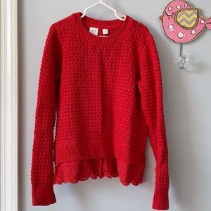 Red sweater, GAP girls size 8.